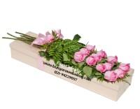 bunga mawar dalam kotak