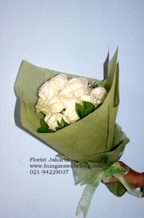 Bunga Mawar Putih Valentine