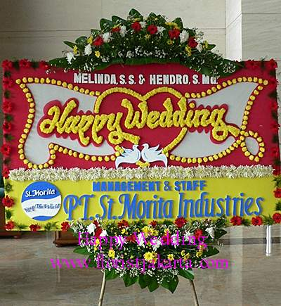 Image result for karangan bunga wedding