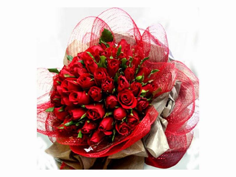 Buket Bunga Mawar Mera...