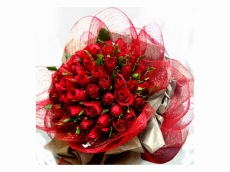 Bunga Valentine Mawar 50 Tangkai